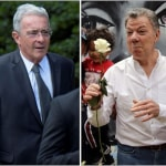 Álvaro Uribe y Juan Manuel Santos