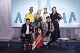 Belky Arizala, Catalina Maya, Andrea Serna, Carolina Castro, Juan Carlos Giraldo, Pilar Castaño y Franklin Ramos, de 'La Agencia'.