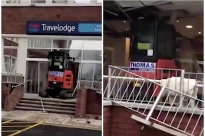 Hombre destruye hotel.