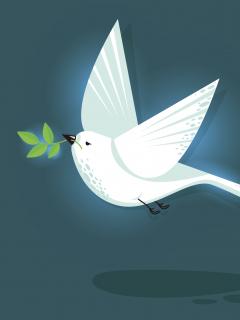 Pájaro trinador de paz