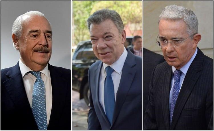 Andrés Pastrana, Juan Manuel Santos y Álvaro Uribe