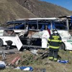 Autobús accidentado en Ecuador