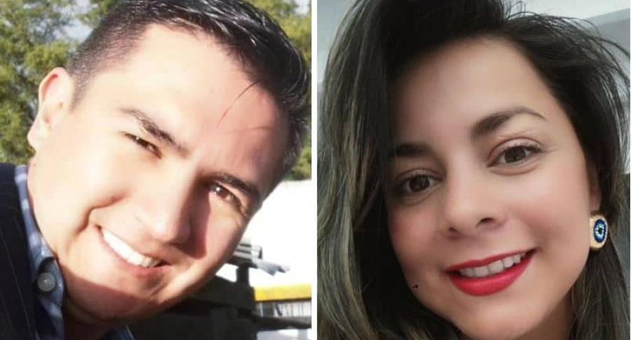 Viviana Muñoz. asesinada, y su esposo Maurico-Quiroga, hallado muerto
