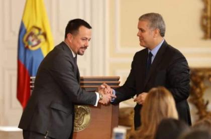 Juan Pablo Bieri e Iván Duque