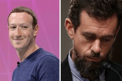 Mark Zuckerberg y Jack Dorsey