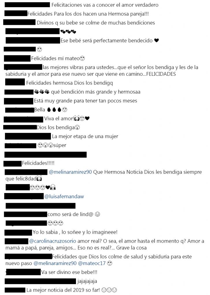 Comentarios a foto de Melina Ramírez