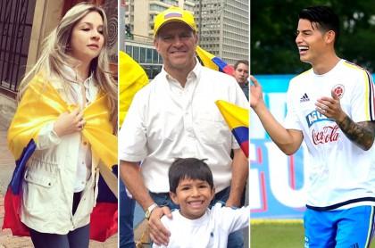 Vicky Dávila, Ricardo Henao y James Rodríguez