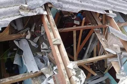 Daños a causa del temblor de este sábado