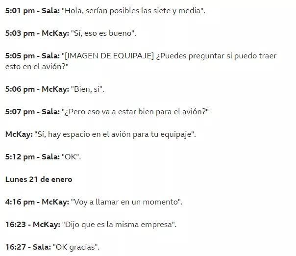 Chat entre Jack McKay y Emiliano Sala