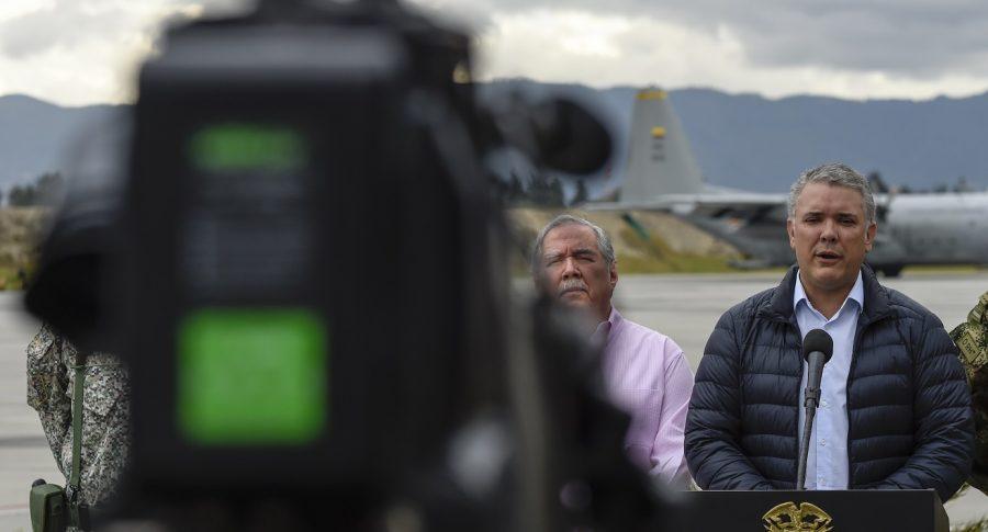 Iván Duque, en rueda de prensa