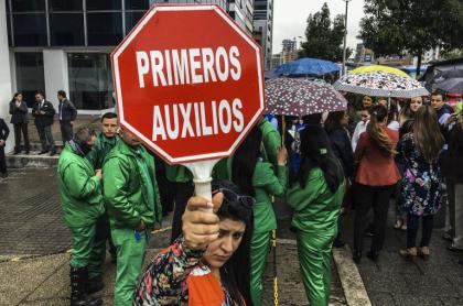 Simulacro en Bogotá.