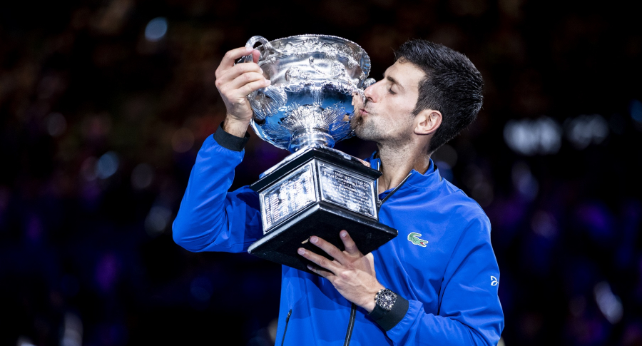 Novak Djokovic celebra su séptimo título en Melbourne