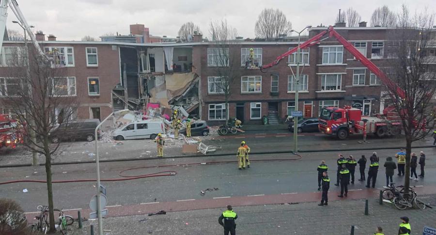Casa después de explosión