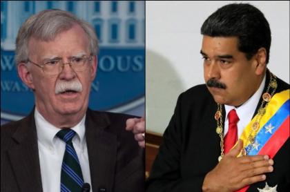 John Bolton y Nicolás Maduro