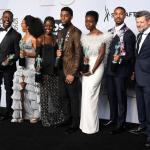 Elenco de Pantera Negra en los premios SAG