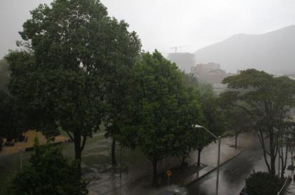 Aguacero en Bogotá