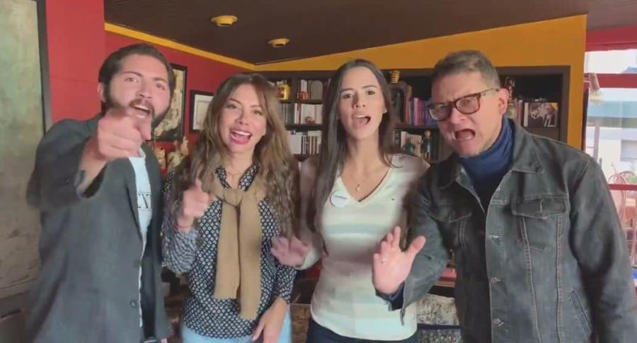 Álvaro Moisés Ninco, Catherine Juvinao, María Fernanda Carrascal y Fabián Sanabria