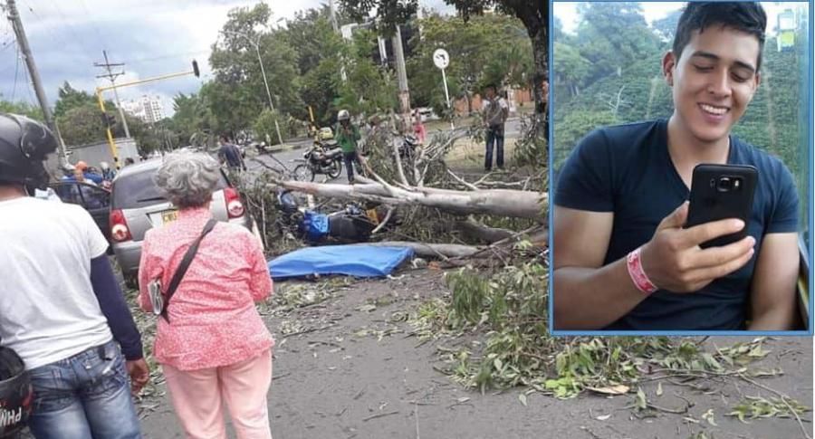 Jhon Sebastián Ortega Saraza, motociclista que murió en accidente en Cali