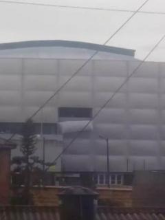 Daños en el Movistar Arena, en Bogotá.