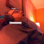 'Gamer' dormido.