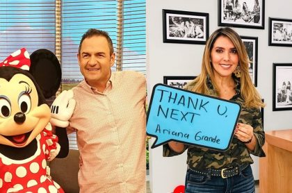 Mauricio Vélez y Mónica Rodríguez, presentadores.
