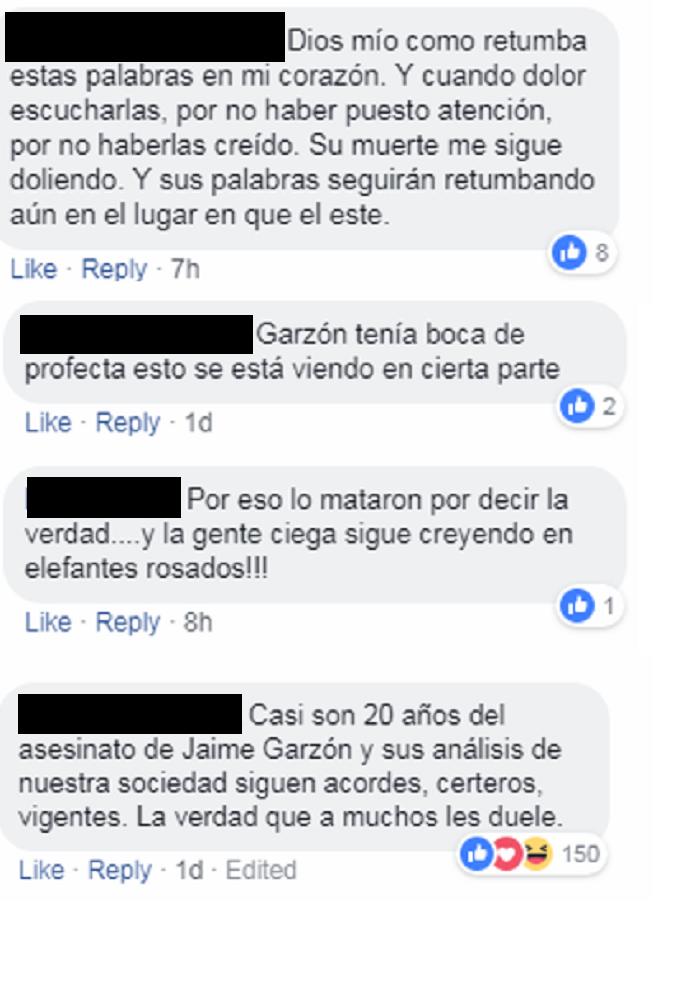 Comentarios a video de Jaime Garzón