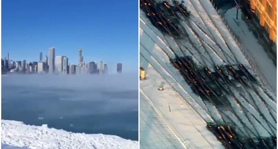 Frío extremo en Chicago.