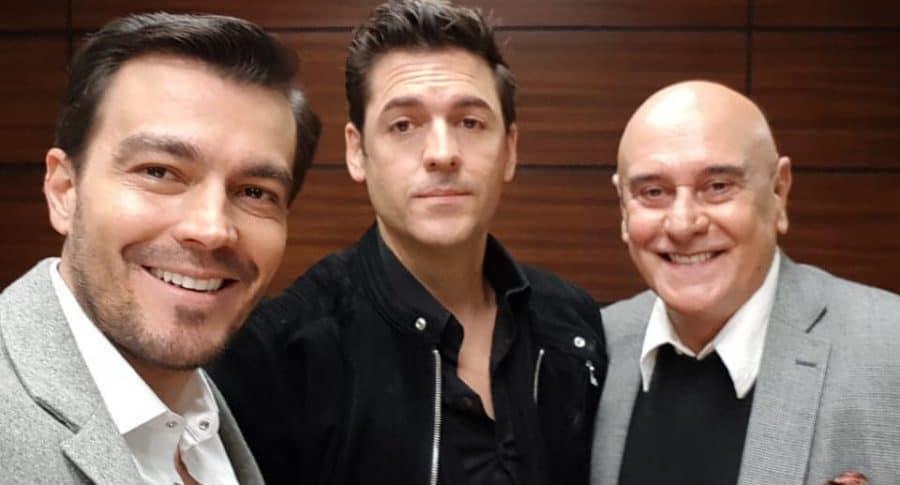 Luciano D'Alessandro, Rodrigo Candamíl y Jorge Cao