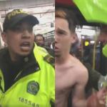 Joven venezolano y agentes de Policía