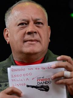 Diosdado Cabello dice tener más material que vincula a Guaidó con 'Los Rastrojos'