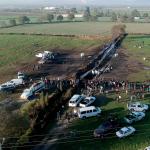 Vista aérea del lugar de la explosión