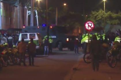 Disturbios en Bogotá