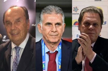 Hernan Peláez, Carlos Queiroz y Ramón Jesurún