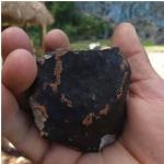 Fragmentos de meteorito.