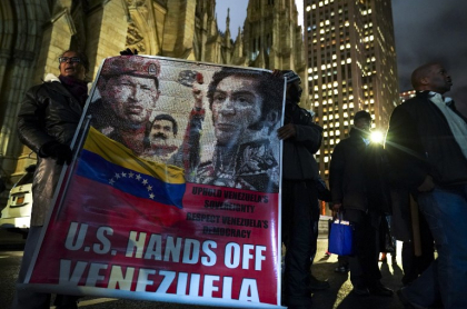 Protestas contra Estados Unidos por Venezuela