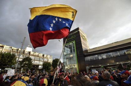Protestas de venezolanos en Bogotá