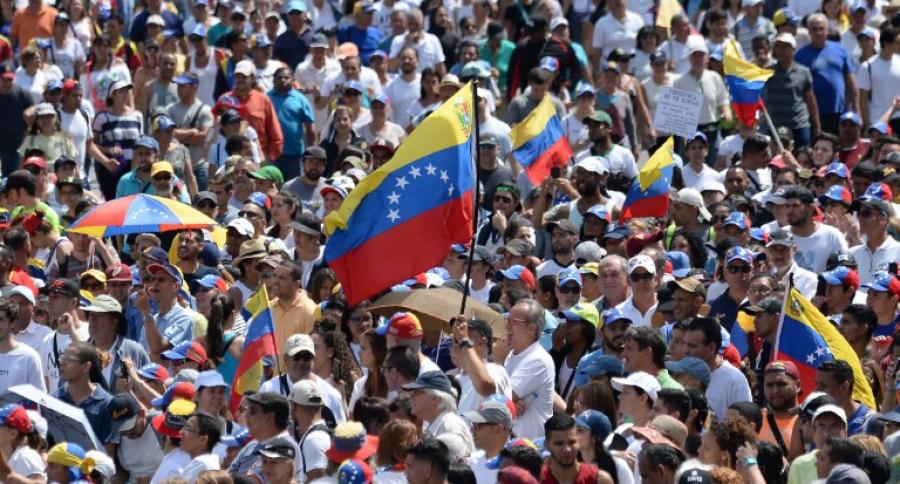 Marcha en contra de Maduro