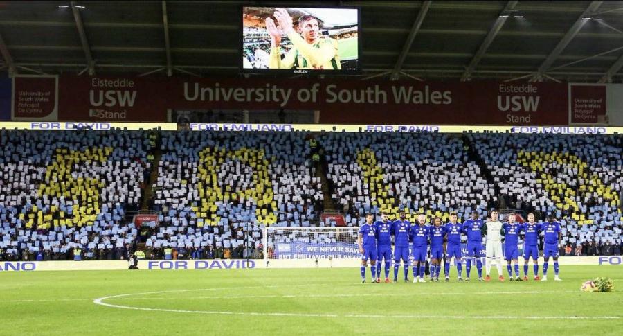 Minuto de silencio en Cardiff por Emiliano Sala