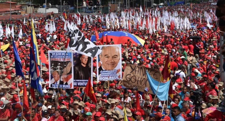 Marchas en Caracas pro Maduro