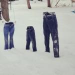 Pantalones congelados