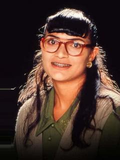 Ana María Orozco ('Betty, la fea) y Jorge Enrique Abello (don Armando Mendoza), actores.