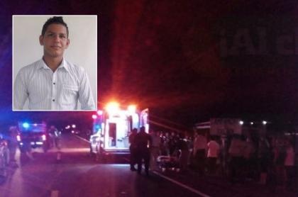Diego Noriega Sánchez y lugar del accidente