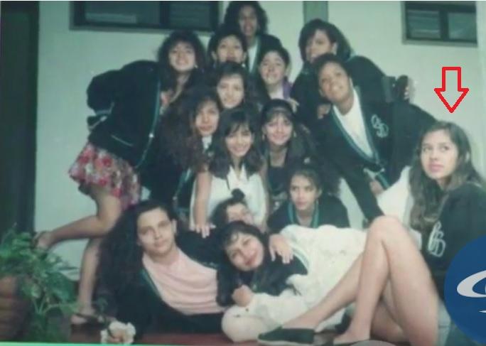 Martha Isabel Bolaños en el colegio.