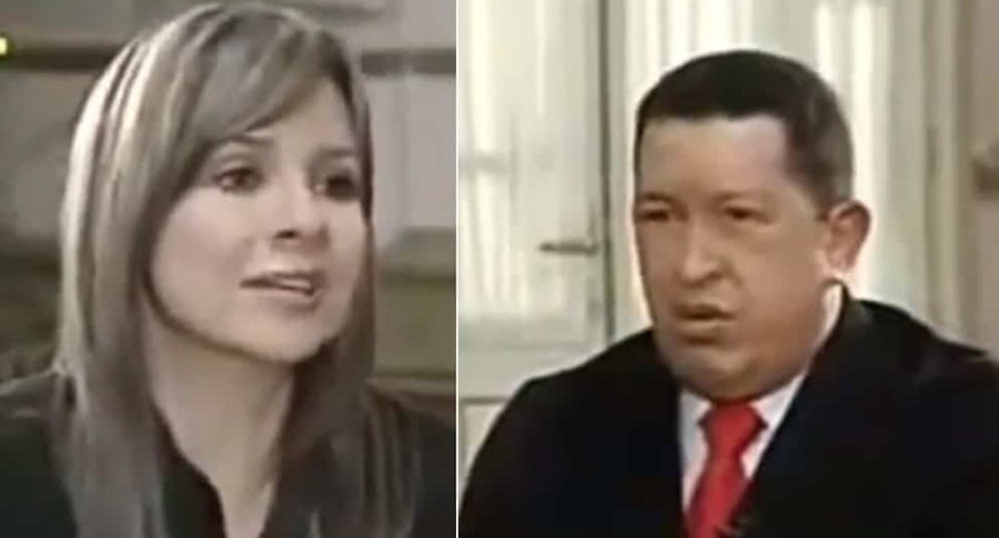 Vicky Dávila y Hugo Chávez