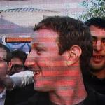 Video de Mark Zuckerberg proyectado en Times Square, Nueva York
