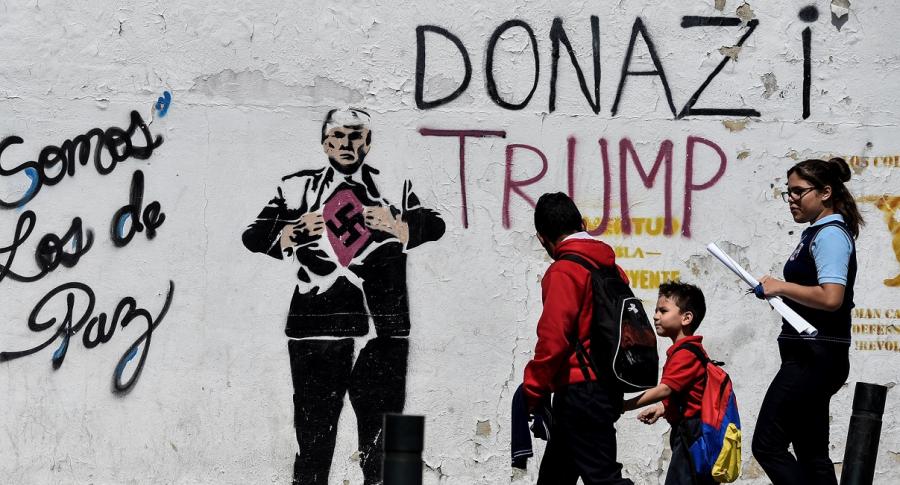 Grafiti anti-Trump en Venezuela