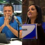 Padre Linero y Xinia Navarro