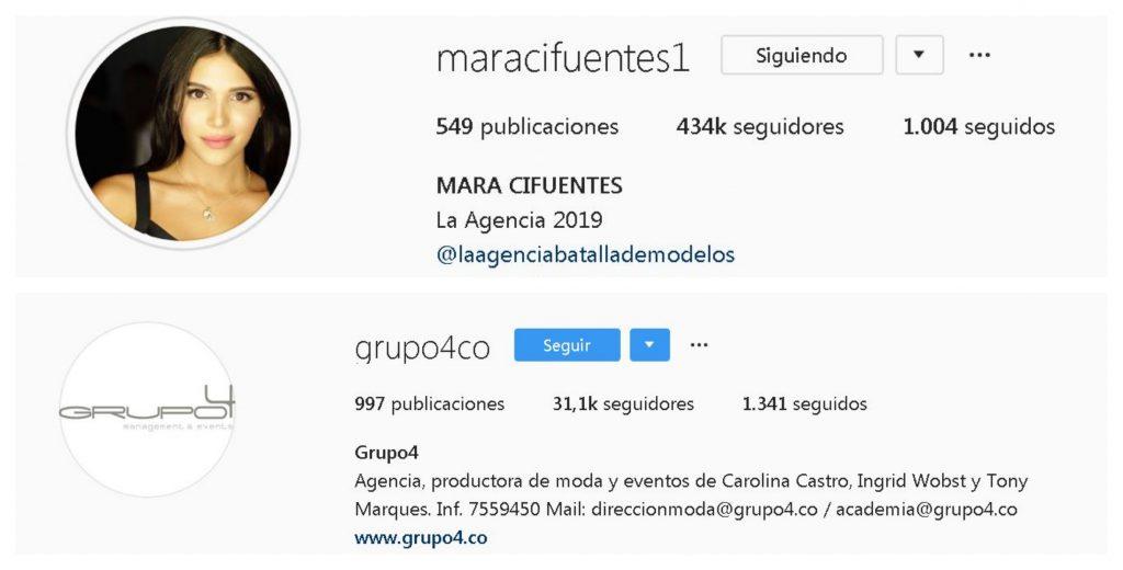 Instagram de Mara y Grupo 4
