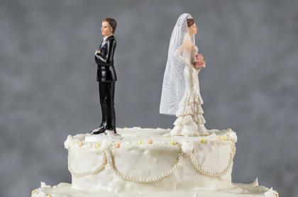 Ilustración de un divorcio