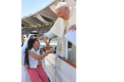 Gabriela con el papa